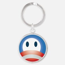 the_O_face_cp_btn Round Keychain