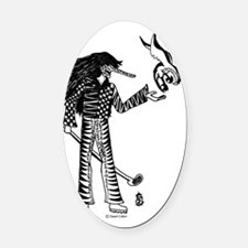 Number Three Oval Car Magnet