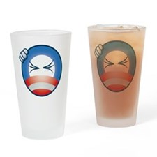 frustrated_O_face_cp_btn Drinking Glass
