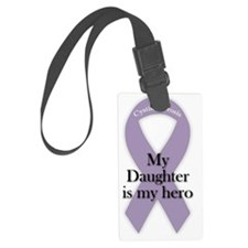 daughterHeroPurpleRibbon-02 Luggage Tag