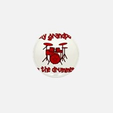 drums_mygrandpaisthedrummer Mini Button