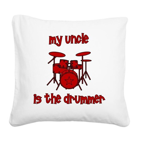 drums_myuncleisthedrummer Square Canvas Pillow