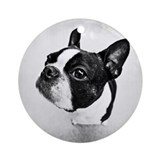 Boston terrier Round Ornaments