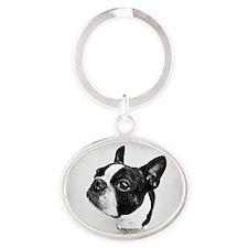 Boston Terrier Oval Keychain