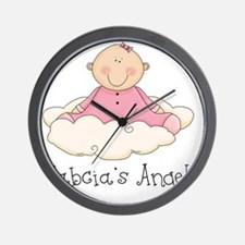 babcias angel girl Wall Clock