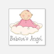 "babcias angel girl Square Sticker 3"" x 3"""