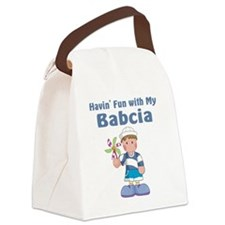 fun with babcia Canvas Lunch Bag