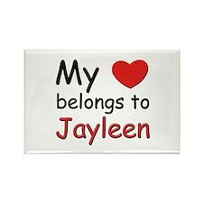 My heart belongs to jayleen Rectangle Magnet