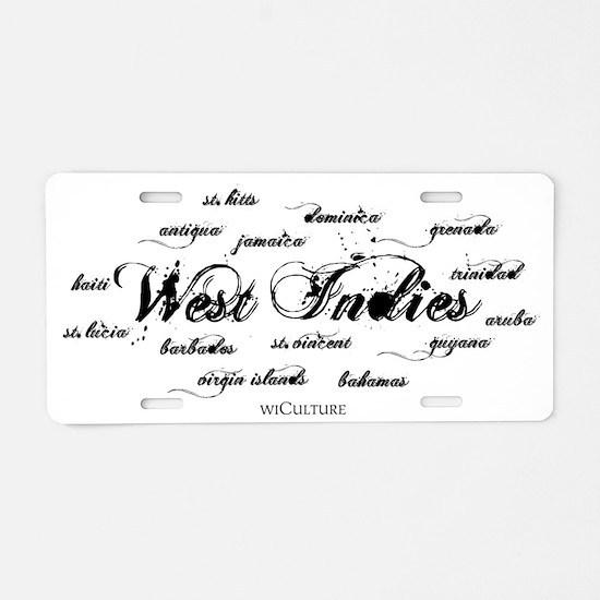 westindies_+_islands1a Aluminum License Plate