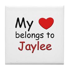 My heart belongs to jaylee Tile Coaster