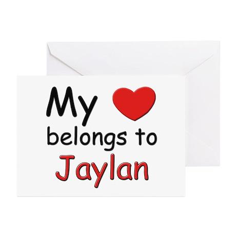 My heart belongs to jaylan Greeting Cards (Package
