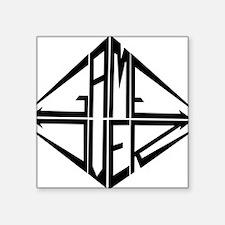 "itanktop_gameover_logga Square Sticker 3"" x 3"""