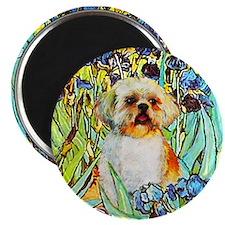 Shih Tzu Fine Art Van Gogh Iris Magnet