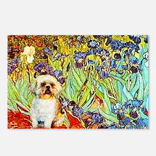 Shih Tzu Fine Art Van Gogh Iris Postcards (Package