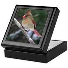 Female Cardinal Keepsake Box