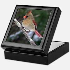 Female Cardinal Keepsake Box