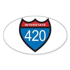 Interstate 420 Oval Decal