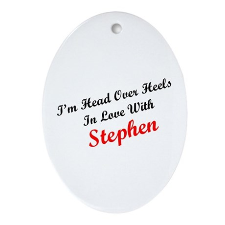 In Love with Stephen Oval Ornament