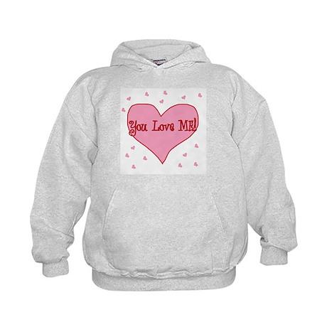 Valentine's Day You love me! Kids Hoodie