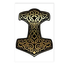 Thor__s_Hammer_brass Postcards (Package of 8)