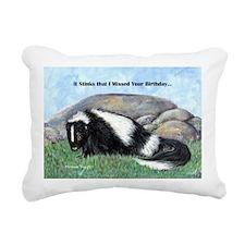 skunk55x75bdaylate Rectangular Canvas Pillow