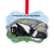 skunk55x75bdaylate Ornament