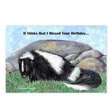 skunk55x75bdaylate Postcards (Package of 8)