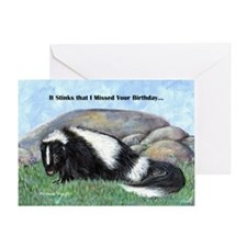 skunk55x75bdaylate Greeting Card
