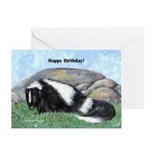 skunk55x75bday Greeting Card