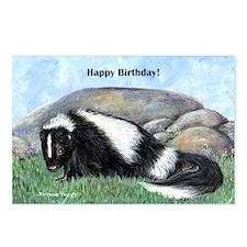 skunk55x75bday Postcards (Package of 8)