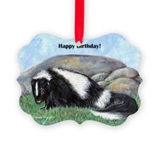 skunk55x75bday Ornament