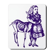 Alice with Fawn Purple Mousepad