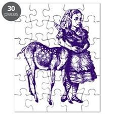 Alice with Fawn Purple Puzzle