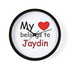 My heart belongs to jaydin Wall Clock