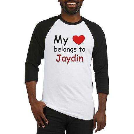 My heart belongs to jaydin Baseball Jersey