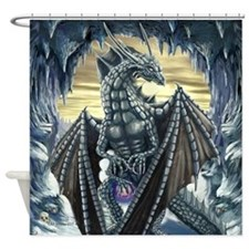 Arctic Dragon Shower Curtain