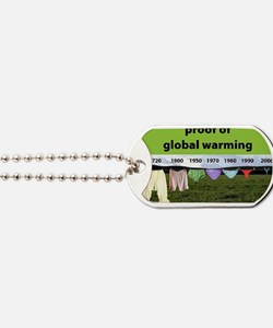 Proof of Global Warming Dog Tags