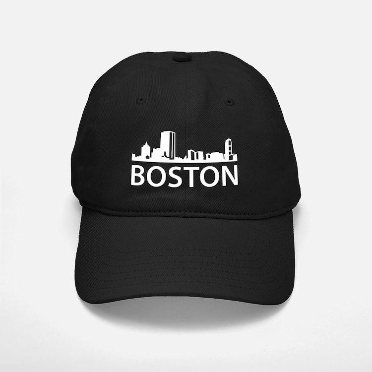 Boston Skyline1Bk Baseball Hat