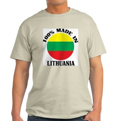Made In Lithuania Ash Grey T-Shirt