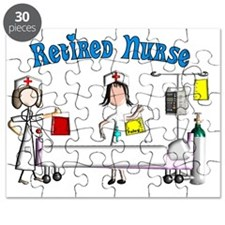 Retired Nurse Poster Puzzle