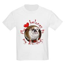 My Heart Belongs to my Bulldo Kids T-Shirt