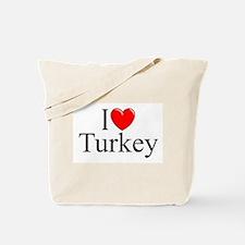 """I Love Turkey"" Tote Bag"