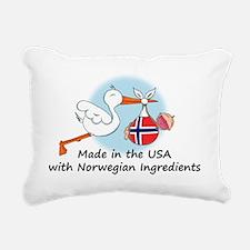stork baby nor 2 Rectangular Canvas Pillow