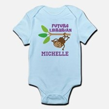 Personalized Future Librarian Monkey Body Suit