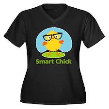 smart-chick Women's Plus Size Dark V-Neck T-Shirt