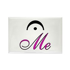 Hot Pink Fermata (Hold) Me Rectangle Magnet