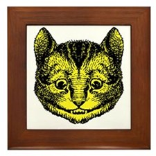 Cheshire Cat Yellow Framed Tile