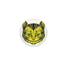 Cheshire Cat Yellow Mini Button