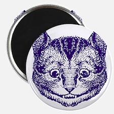 Cheshire Cat Purple Magnet