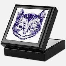 Cheshire Cat Purple Keepsake Box